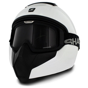Capacete Moto Shark Vancore Blank Whu Piloto Branco