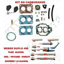 Kit Carburador Weber 495 Tldz Gol/voyage/parati 1.6 Alcool