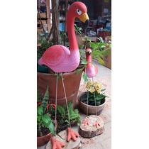 Garça Flamingo Enfeites De Vaso Ou Jardim