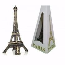 Torre Eiffel Paris Decorativa Em Metal 18 Cm Festa, Presente