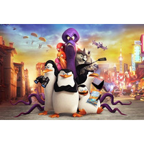 Painel Decorativo Festa Infantil Pinguins Madagascar (mod6)
