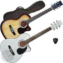 Guitarra Electroacustica C/ Corte Satin + Funda + Pua + Gtia