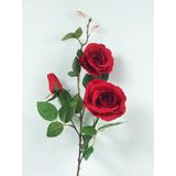 Galho Rosa Colombiana Vermelha - Flores Artificial Buquê