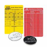 Kit Moeda + Cartão Árbitro Internacional Oficial Go Sports