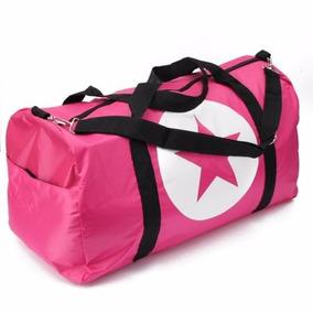 Mala Viagem Grande Pink Preta Estrela 100% Nylon Fashion Top