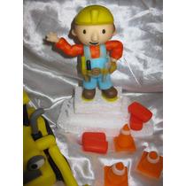 Adornos De Torta Personalizados ( Bob El Constructor+grúa )