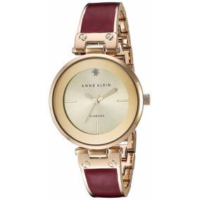 Reloj Anne Klein Ak2512bygb Dama Rojo Diamond Envío Gratis*
