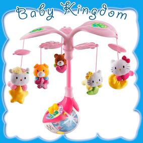 Tierno Y Dulce Movil De Bebe Con Muñequitos De Hello Kitty.