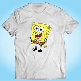 Camisa Bob Esponja Desenho Tv Herói Engraçada Personalizada