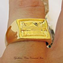 Anel Promessa Arca Da Aliança Ouro 18k Banho Ojoalheiro