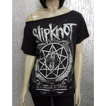 Camiseta Feminina Slipknot - All Hope Is Gone - Gola Canoa