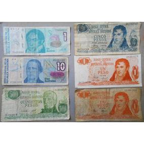 Lote De 6 Billetes De Argentina Circulados
