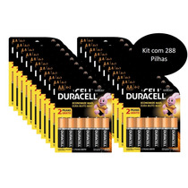 Kit Com 48 Duracell Duralock Pilha Alcalina Aa C/ 6 Unidades