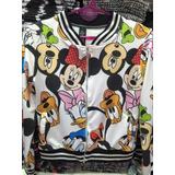 Campera Mickey Y Minnie Sublimadas! Nena Y Adolescente!