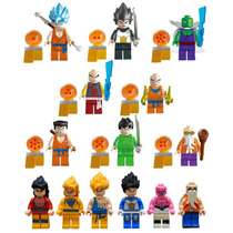 Set Dragon Ball 14 Pz Goku Gohan Majimbu Compatible Con Lego