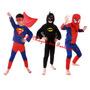 Fantasia Infantil Super Heróis (homem Aranha Superman Batman
