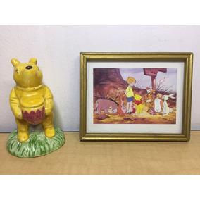 Winnie The Pooh Cuadro Y Mono Bulto Cerámica Colección A1