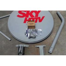 Parabólica Banda Ku 60 Cm Logo Da Sky Completa - R$ 108