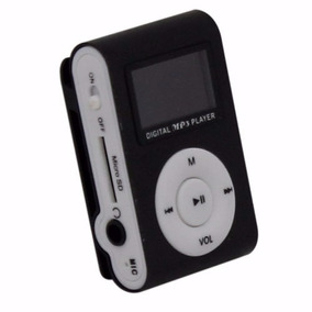 Mini Mp3 Player Tela Lcd + Fm Shuflle Clip Entrada Micro Sd