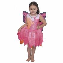 Disfraz Barbie Mariposa Princesa De Las Hadas Talle 5/7 Años