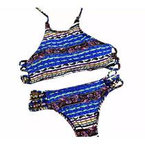 Biquíni Top Strappy Cropped Bojo Panicat Verão Moda Praia