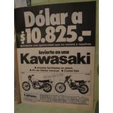 Publicidad Moto Kawasaki 650 Sr Y Kl 250 Año 1982