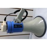 Megafono Portatil Grande Con Usb Grabacion Y Sirena 120 Watt