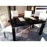 Mesa Y 6 Sillas Comedor Wengue Guatambu - Oferta De Fabrica