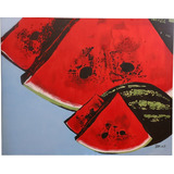 Pintura, Oleo, Decorativo, Bodegon, Fruta, abstracto