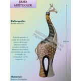 Jirafa Decorativa Figura En Poli-resina 40cm