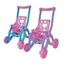 Carrinho De Boneca Rosa Princesas Coração Brinquemix