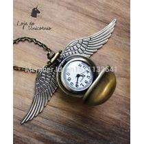 Relógio De Bolso Pomo De Ouro Harry Potter - Bronze Antigo