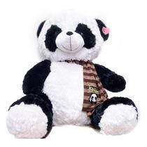 Urso De Pelúcia Panda Gigante Coração 80cm! Pronta Entrega!