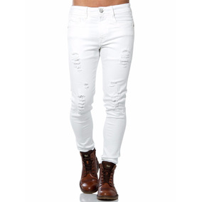 - Jeans Mezclilla Stretch Hippie & Rock Color Blanco Li8159
