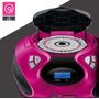 Som Rádio Portátil Boombox 20w Rms Rosa Multilaser - Sp179