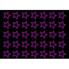 Estrellas Strass Facetadas Aplique P/pegar C/ Calor