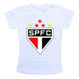 Camiseta Infantil Personalizada - São Paulo Spfc Tricolor