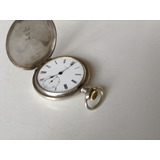Reloj Zenith Suizo De Plata Labrada Antiguo Andando