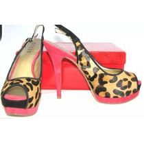 Zapatos Guess Plataforma Importados #8 Usa #5 Mex Leopardo