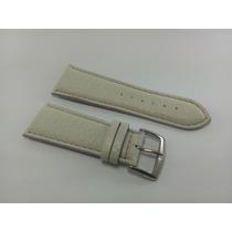 Pulseira Para Relógios Diesel Couro Branco 28mm Ou 30mm