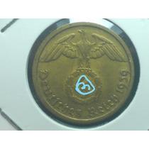 Antiga E Rara Moeda Da Alemanha Reich, 10 Pfennig, Letra D