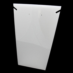 Expositor Acrílico De Vitrine Placa L 1 Colar (médio) Branco