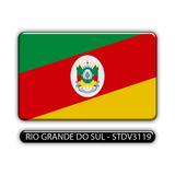 Adesivo Automotivo Bandeira Estado Rio Grande Sul Resinado