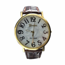 Relógio Feminino Geneva Números Grandes - Cód. 061