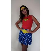 Fantasia Mulher Maravilha Pop Original Pronta Entrega Oferta