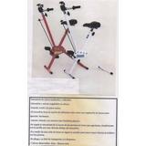 Bicicleta Fija Para Gimnasia Plegable Con Remo
