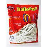 Balão Bexiga Canudo Escultura 260 Branco C/50 Unidade