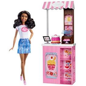 Juguete Barbie Carreras Tienda De La Panadería Set De Juego