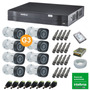 Kit 8 Câm 1120b G3 Intelbras + Dvr Mhdx 1008 (k-0208)