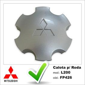 Calota Centro De Roda L200 Outdoor E Pajero Sport Prata